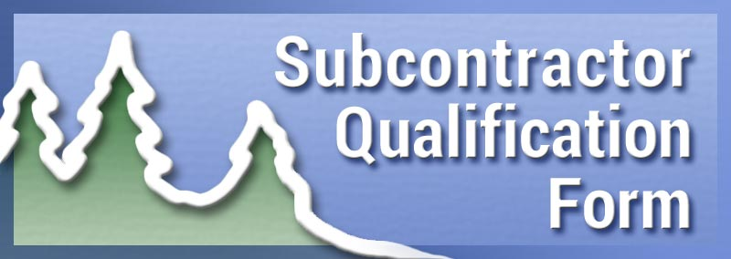 Subcontractor & Supplier Qualification Form